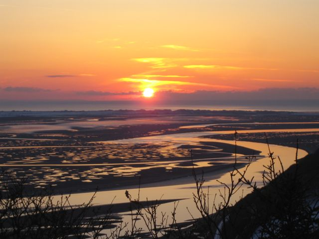 Sunset over the Dyfi Estuary in Snowdonia